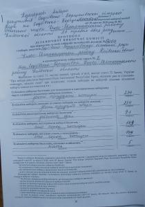 Протокол Виборчої дільниця № 13069 округ №2