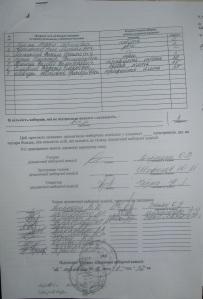 Протокол Дільничної  виборчої комісії округ №32