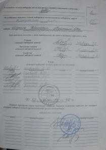 Протокол Софіївсько-Борщагівської сільської  виборчої комісії округ №17