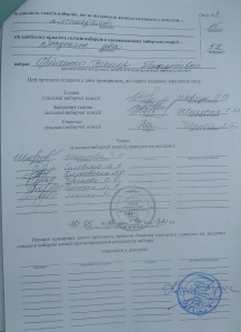 Протокол Софіївсько-Борщагівської сільської  виборчої комісії округ №9