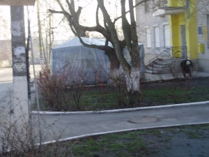 the tent of the picketers the village of Ivano-Frankivsk, spring 2012