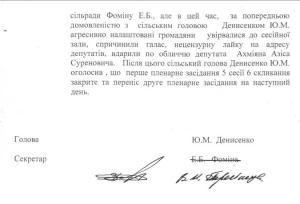 Протокол  Софіївсько Борщагівської сільської ради 14.03.2011 року підролений  3
