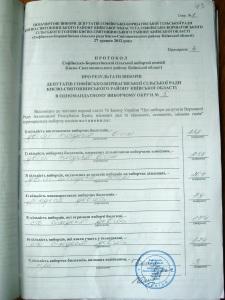 Протокол округ № 5 по виборам 27.05.2012 року