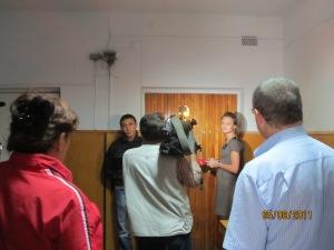 тітушки нікого не впускають в Софіївсько-Борщагівську сільську рада 05.08.2011 року місяць після захвату